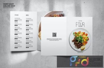 Minimal Elegant Food Menu Design A4 & US Letter 47FRS9Z 1