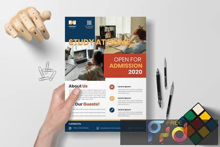 Study at Home - Education Flyer KNLJ2SX 1