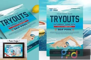 Swim Tryouts Flyer 2F6FJA8 2