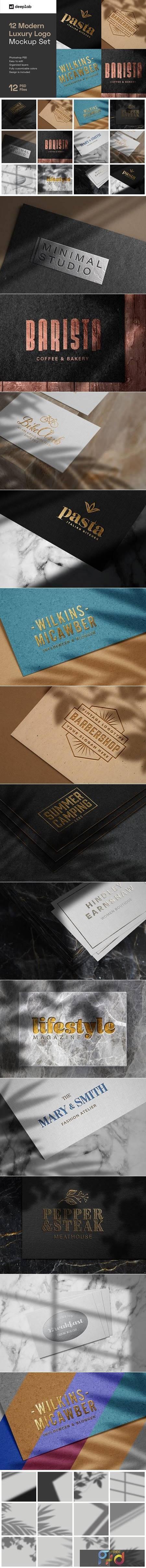 Elegant Luxury Logo Mockup Set 5144614 1