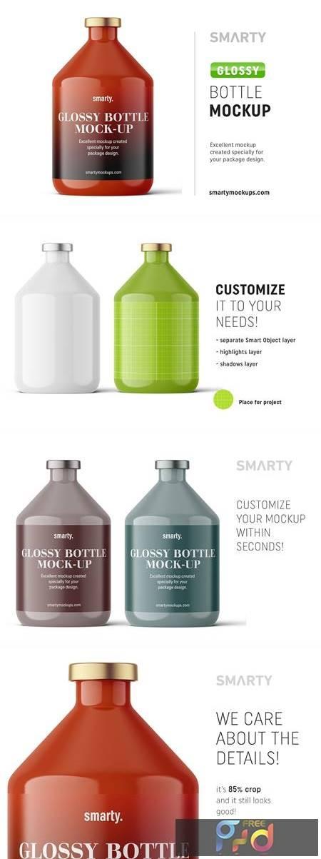 Glossy bottle mockup 200ml 4824800 1