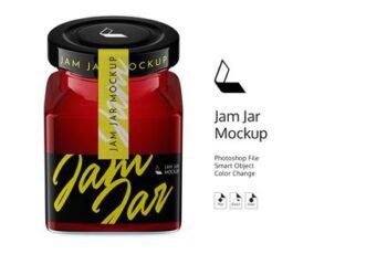 Jar Jam Mockup (high-angle) #5 4825400