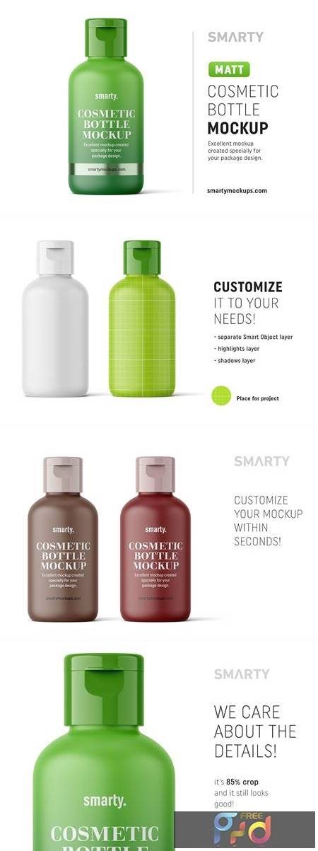 Matt cosmetic bottle mockup 4824474 1