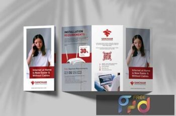 Internet Provider Promotional Trifold Brochure MS22T3W 6