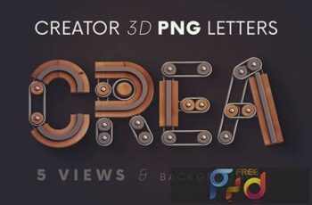 Creator - 3D Lettering AQB7GF4 3