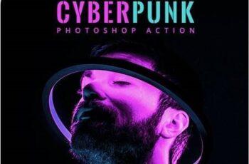 Cyberpunk Photoshop Action 27081257