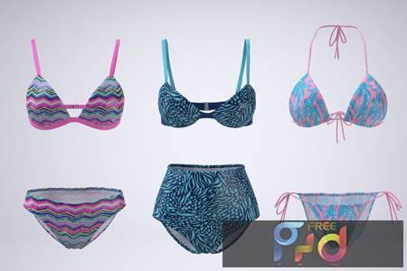 Bikini Swimsuit Mock-up 4GSPHRV 1