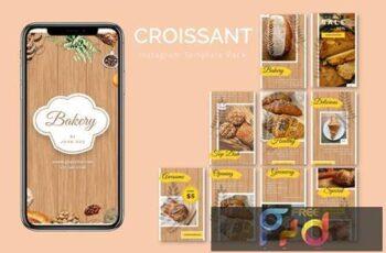 Croissant - Instagram Template Pack 4DVKTM9
