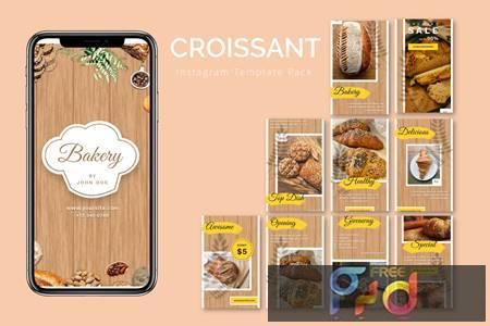Croissant - Instagram Template Pack 4DVKTM9 1