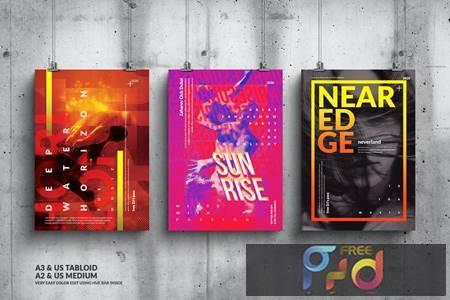 Music Event Big Poster Design Set 4MRGCVR 1