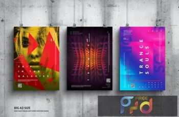 Music Event Big Poster Design Set B3K9ZQ2 7