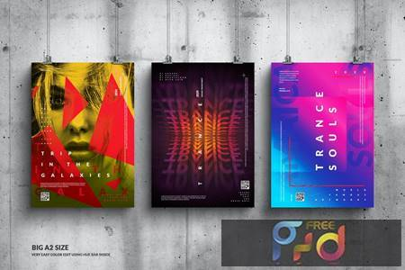 Music Event Big Poster Design Set B3K9ZQ2 1
