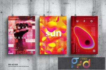 Music Event Big Poster Design Set LLQ6MPD