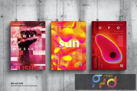 Music Event Big Poster Design Set LLQ6MPD 1