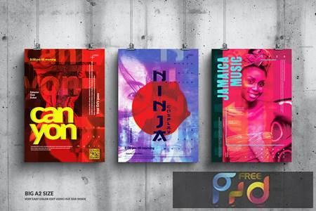 Music Event Big Poster Design Set 3VERXUK 1