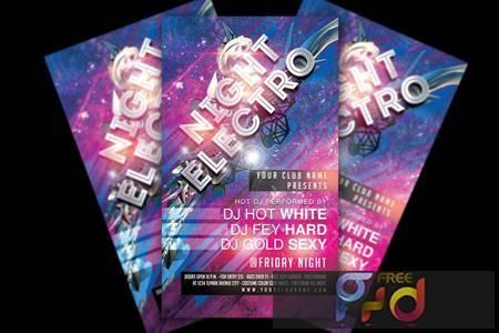 Electro Night Party Flyer LW863Y6 1