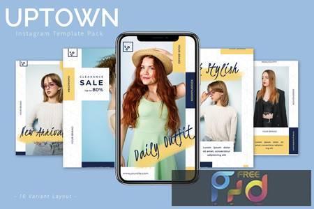 Uptown - Instagram Template Pack 7VVQH6D 1