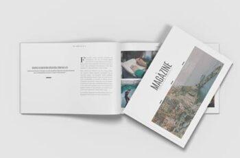 Landscape A4 Minimalist Magazine Mockup 15