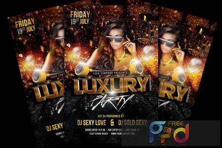 Luxury Party Flyer VN9DX76 1