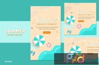 Summer Sale Banners PP8GDCY