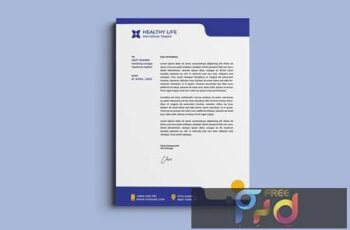 Medical healthy letterhead RKTD972 14