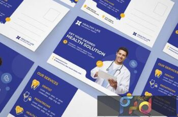 Medical healthy postcard MRG3RNP 13
