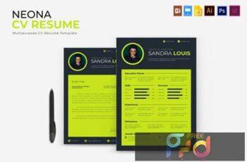 Neona - CV & Resume PLUYD6T 5