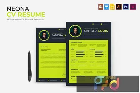 Neona - CV & Resume PLUYD6T 1