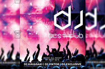 Best Club Dj Flyer - Club A5 Template 19994 3