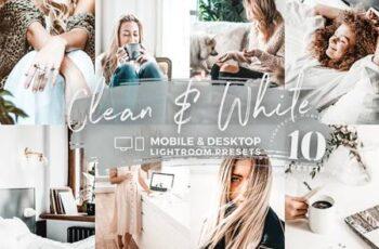 10 Clean & White Mobile Presets 5142951 7