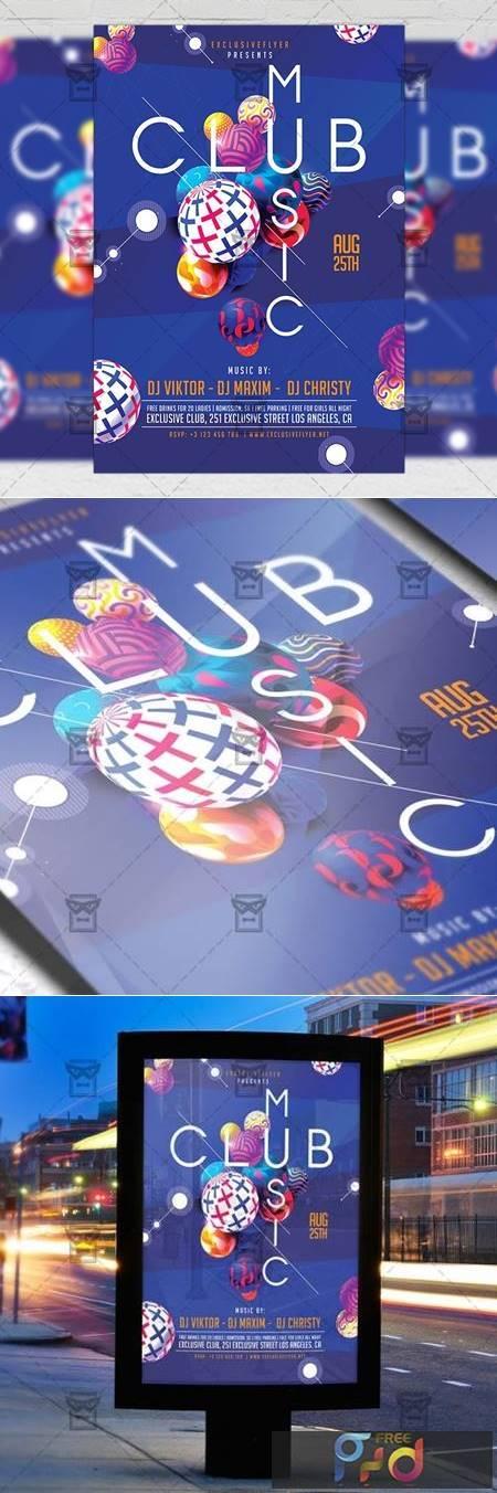 Club Music Night Flyer - Club A5 Template 20015 1