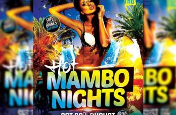 Hot Mambo Nights Flyer - Seasonal A5 Template 19974 4