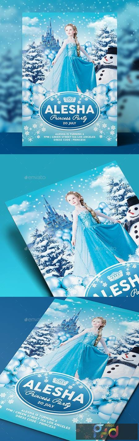 Ice Princess Party Flyer - Invitation 18326567 1