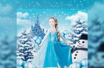Ice Princess Party Flyer - Invitation 18326567 16