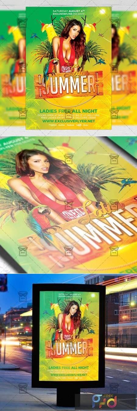 Latin Summer Flyer - Seasonal A5 Template 19970 1