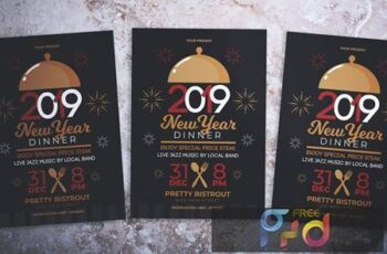 New Year Dinner Party Flyer 4FK5Y6 6