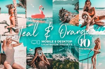 10 Teal & Orange Mobile Presets 5142981 7