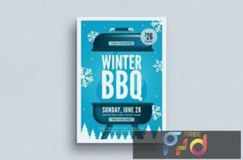 Winter BBQ Event Flyer HULMHZ 4