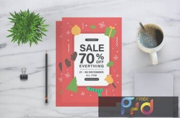 Christmas Sale Flyer 3PMZBQ 9