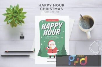 Happy Hour Christmas Flyer BMPUSX 2