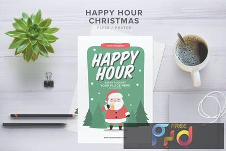 Happy Hour Christmas Flyer BMPUSX 1