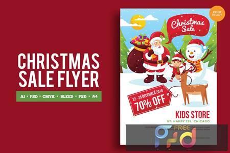Merry Christmas Event Flyer PSD and Vector Vol3 CEUZJ6 1
