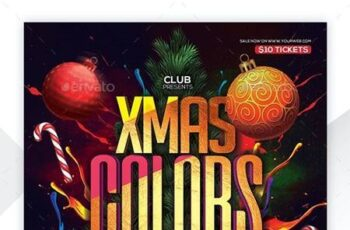 Christmas Color Party Flyer 22855147 2