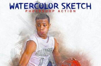 Watercolor Sketch Photoshop Action 26436014 5