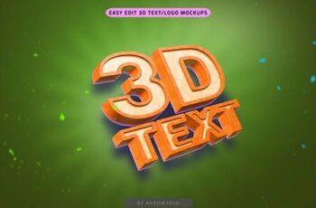 3D Text Mockup Cartoon 27244607 3