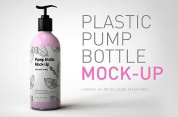 Plastic Pump Bottle Mock-Up 4823852 7