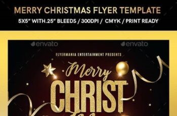 Merry Christmas Flyer Template 22856025 10