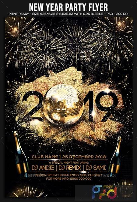New Year Party Flyer 22855617 1