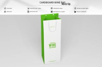 Cardboard Wine Bag Mock-Up 4571744 4
