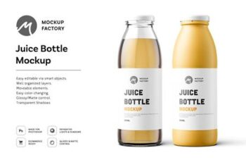 Juice Bottle Mockup 4575145 3
